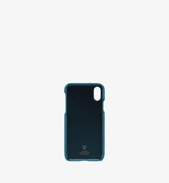 MCM Tivitat花押字圖案皮革 iPhone X / XS手機殼 Blue MZE9ABT26JF001 Alternate View 2