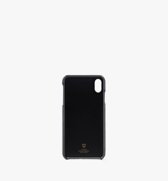 MCM Tivitat iPhone XS Max Case in Monogram Leather Grey MZE9ABT30FK001 Alternate View 2