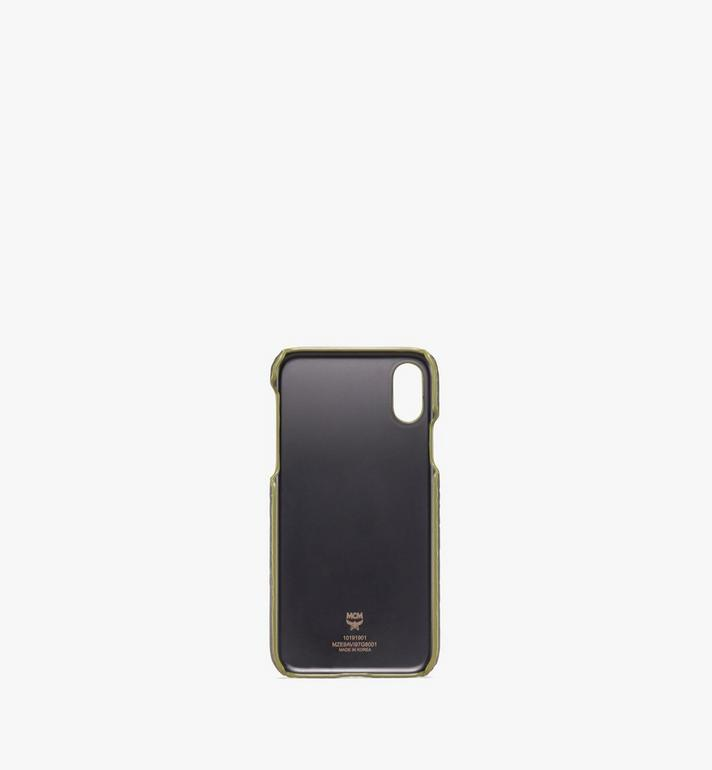 MCM iPhone X/XS Case in Visetos Alternate View 2