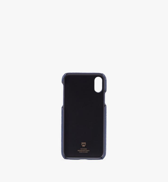 MCM iPhone X/XS Case in Visetos Blue MZE9AVI97VS001 Alternate View 2