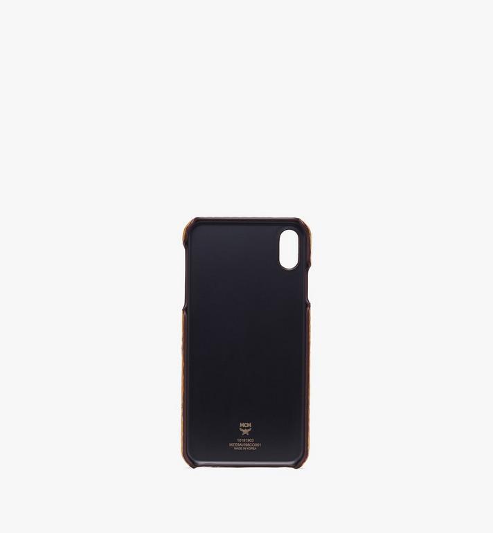 MCM iPhone XS Max Case in Visetos Cognac MZE9AVI98CO001 Alternate View 2