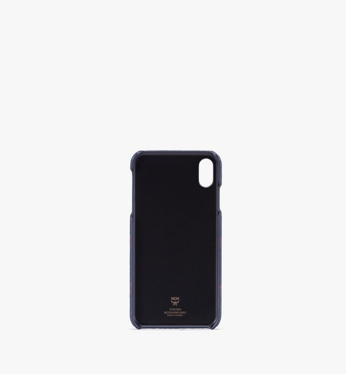 MCM iPhone XS Max Case in Visetos Blue MZE9AVI98VS001 Alternate View 2