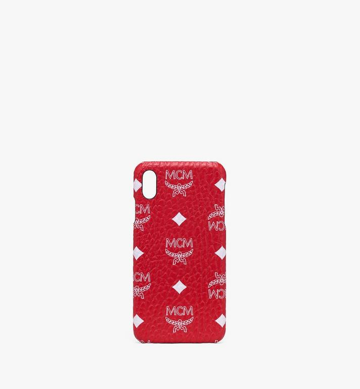 MCM iPhone XS Max Case in White Logo Visetos Alternate View