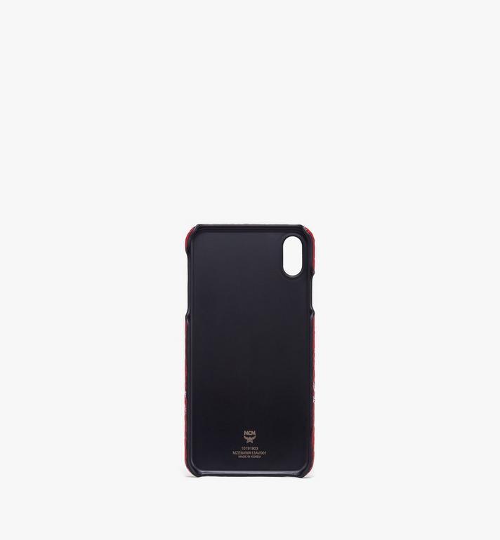 MCM iPhone XS Max Case in White Logo Visetos Red MZE9AWA13AV001 Alternate View 2