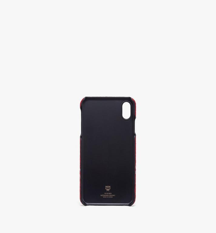MCM iPhone XS Max Case in White Logo Visetos Alternate View 2