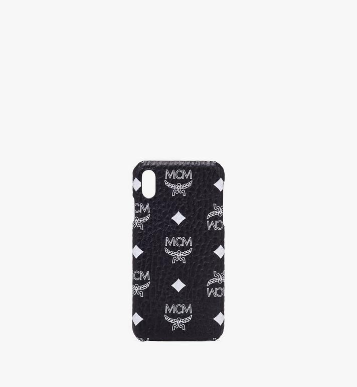 MCM Coque pour iPhone XS Max en Visetos à logo blanc Alternate View 1