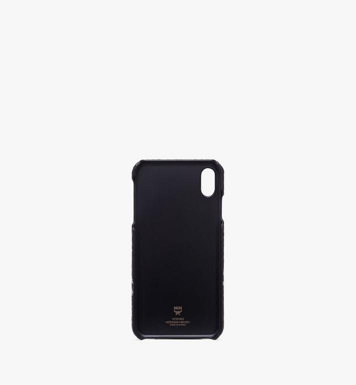 MCM iPhone XS Max Case in White Logo Visetos Black MZE9AWA13BV001 Alternate View 2