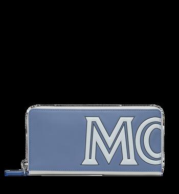 MCM Contrast Logo Zip Wallet in Leather Alternate View
