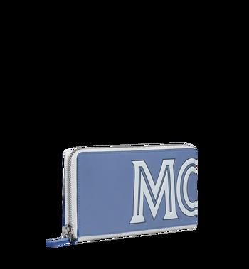 MCM Contrast Logo Zip Wallet in Leather Alternate View 2