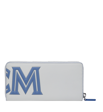 MCM Contrast Logo Zip Wallet in Leather Alternate View 3