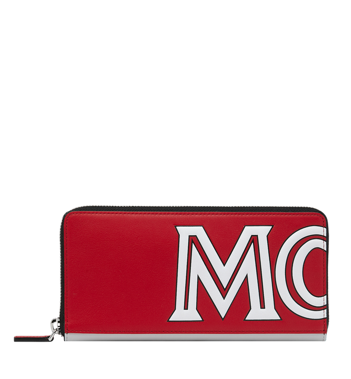 MCM Contrast Logo Zip Wallet in Leather Alternate View