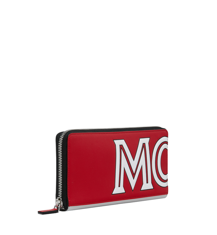 MCM Contrast Logo Zip Wallet in Leather Alternate View 2
