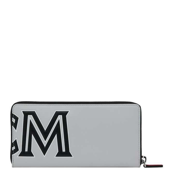 MCM Contrast Logo Zip Wallet in Leather Alternate View 3