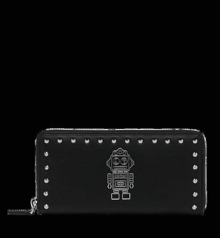 MCM Roboter Brieftasche mit Rundumreissverschluss aus Nappaleder Alternate View