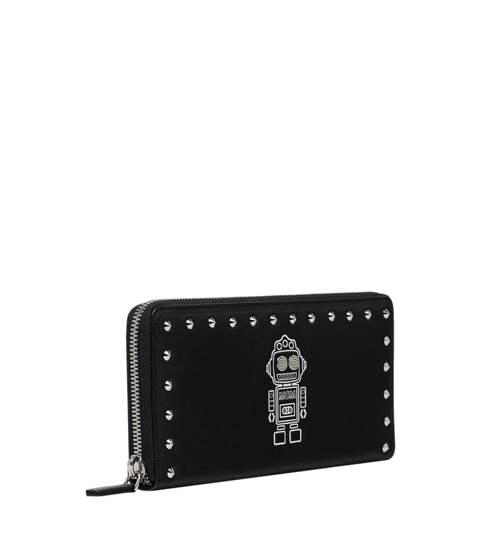 MCM Roboter Zip Around Wallet in Nappa Leather Black MZL9SRO33BK001 Alternate View 2