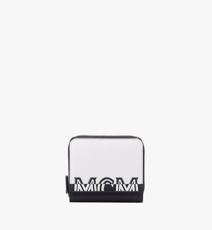 MCM Contrast Logo Zip Wallet Alternate View 1