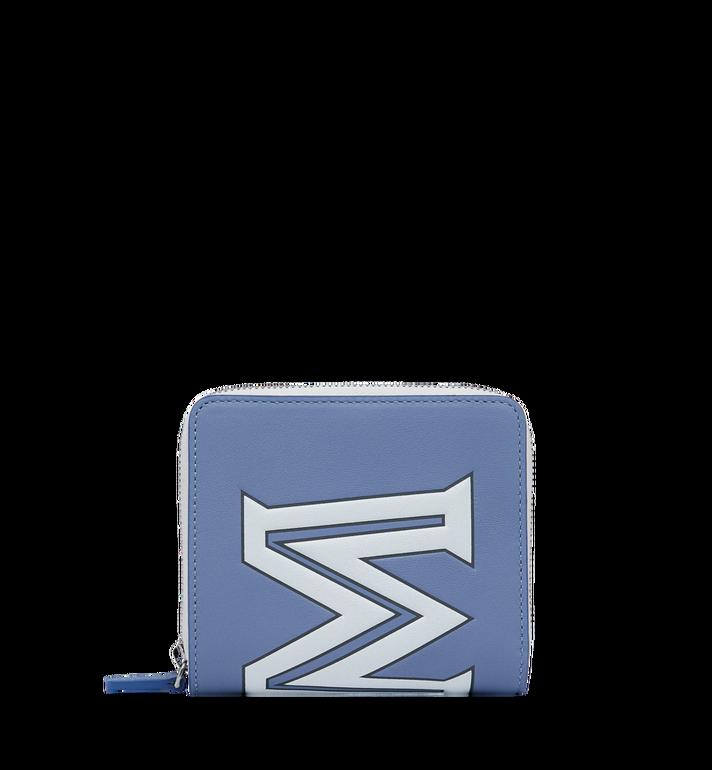 MCM Portefeuille à fermeture éclair avec logo contrasté en cuir Alternate View