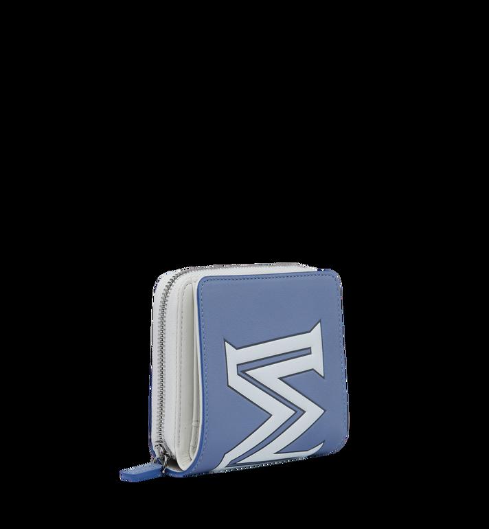 MCM Portefeuille à fermeture éclair avec logo contrasté en cuir Alternate View 2