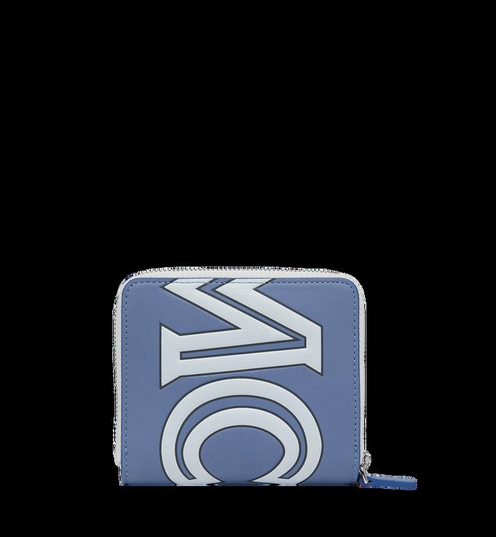 MCM Portefeuille à fermeture éclair avec logo contrasté en cuir Alternate View 3