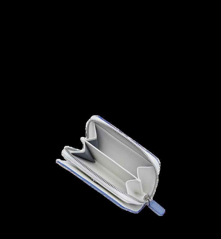 MCM Portefeuille à fermeture éclair avec logo contrasté en cuir Alternate View 5