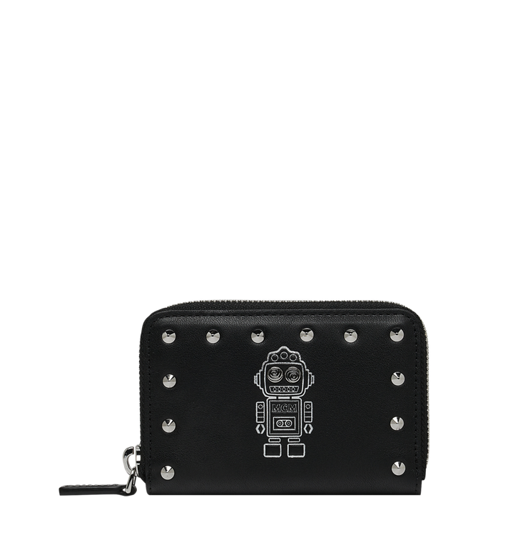 MCM Roboter Zipped Card Wallet in Nappa Leather Alternate View 1