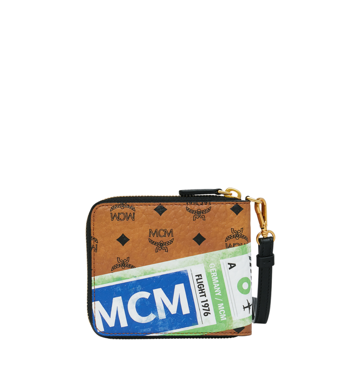 MCM Zip Wallet in Flight Print Visetos Alternate View 3