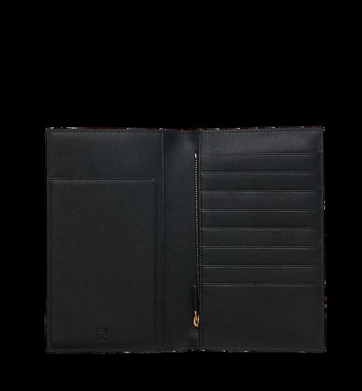 MCM Porte-passeport en Visetos Flight Print Cognac MZV9SVI96CO001 Alternate View 4