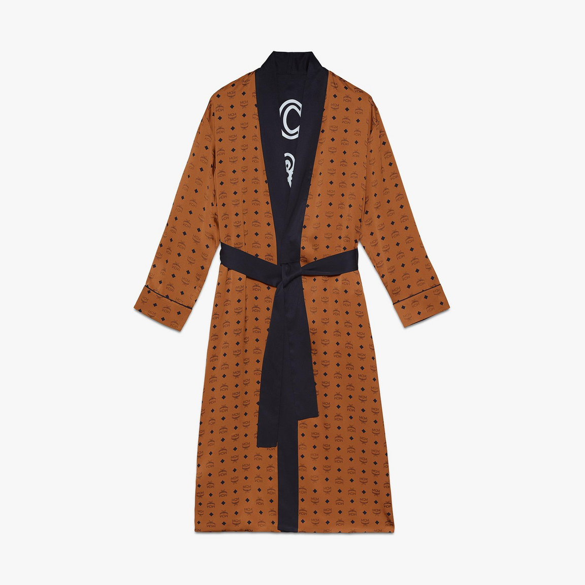 Classic Logo Silk Reversible Robe