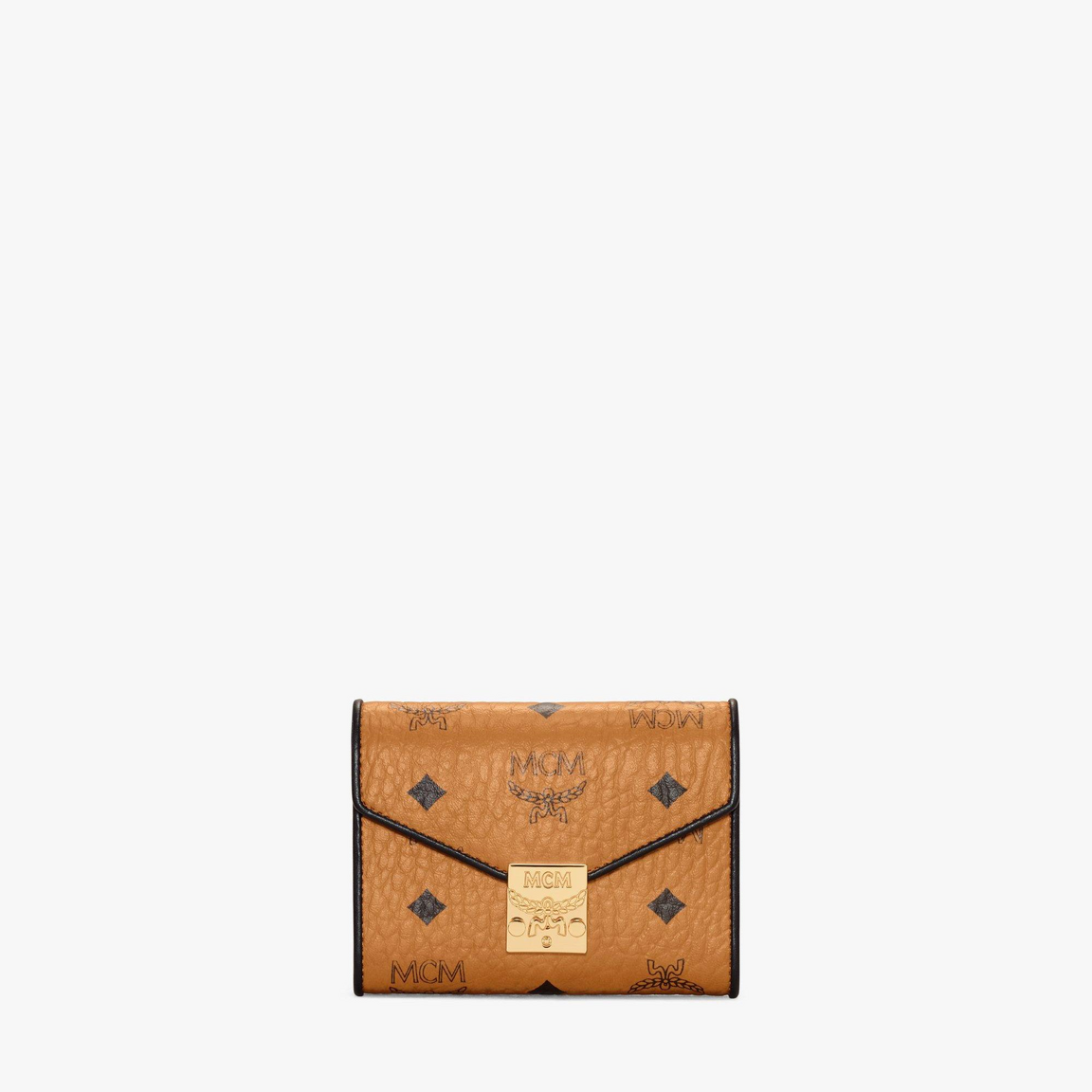 Patricia Trifold Wallet in Visetos Leather Block