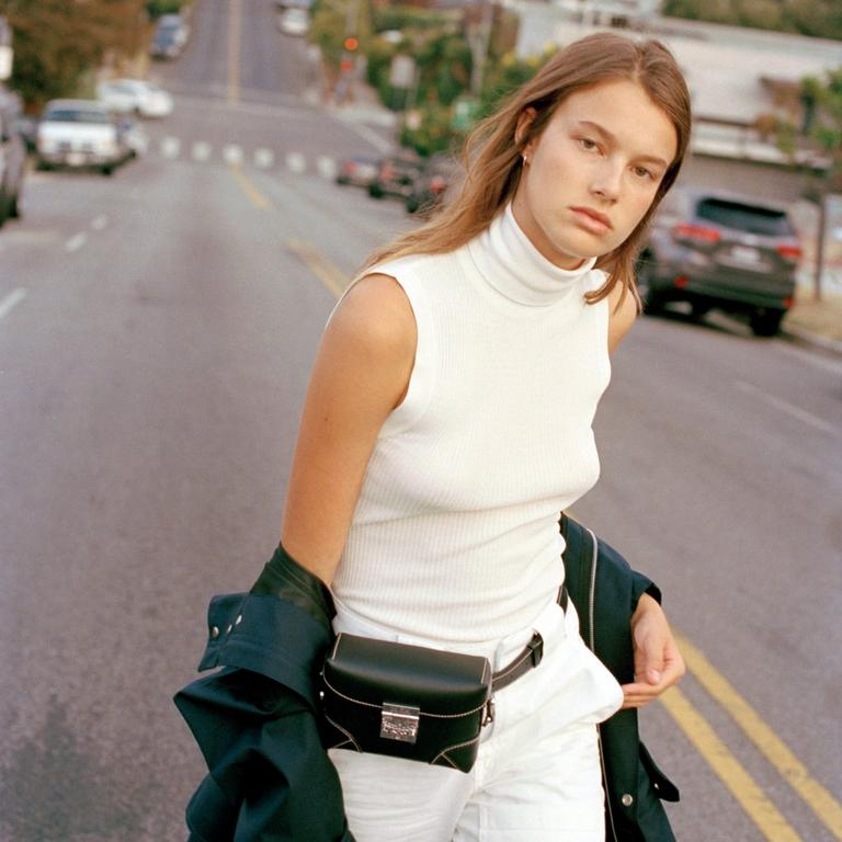 Small Soft Berlin Belt Bag in Black Vachetta Leather