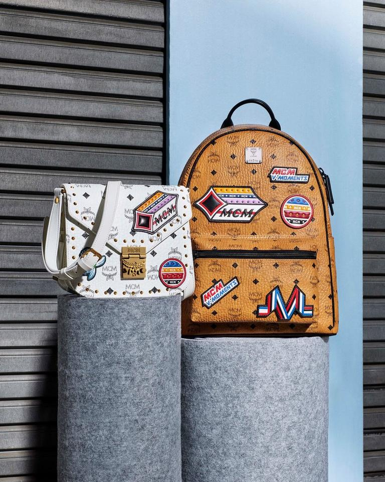 STARK BACKPACK AND PATRICIA SHOULDER IN VICTORY PATCH VISETOS