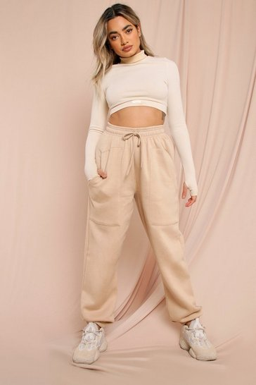 Nude Pocket Detail Oversized Soft Jogger