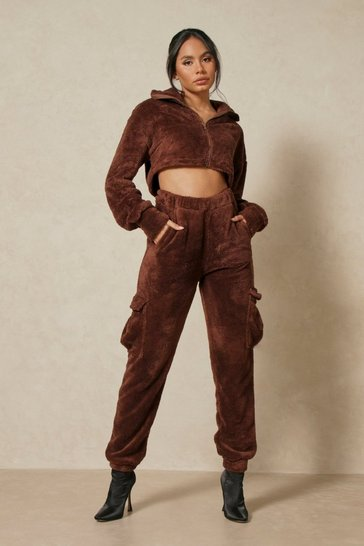 Chocolate Cargo Teddy Jogger