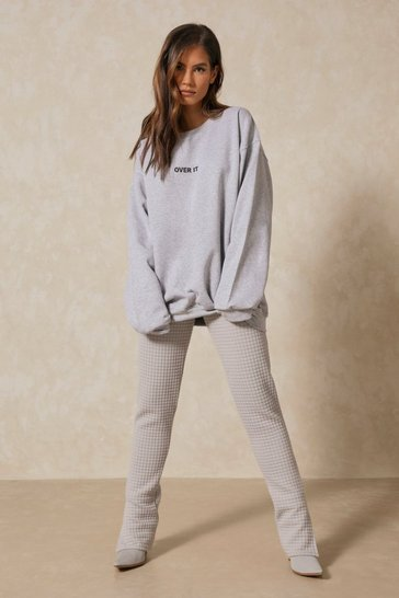 Grey marl Extreme Oversized Over It Sweatshirt