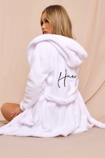 Cream Honey Embroidered Robe