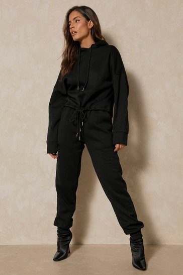 Black Hoodie And Jogger Lounge Set