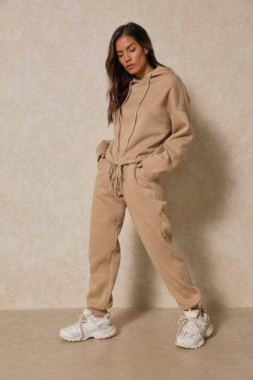 Camel Hoody And Jogger Lounge set