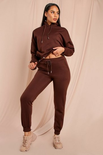 Chocolate Hoody And Jogger Lounge set