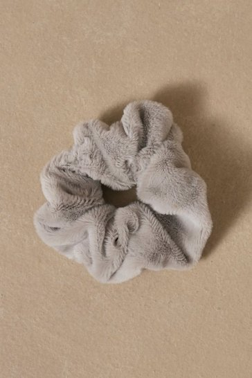 Grey Super Soft Scrunchie