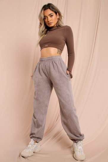 Light brown Oversized Acid Wash Joggers