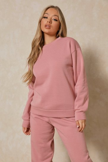 Rose Basic Oversized Sweatshirt