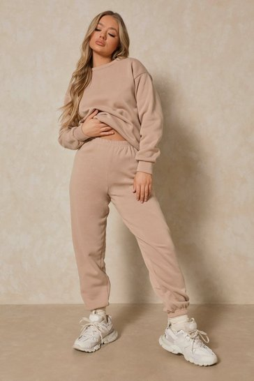 Stone Basic High Waisted Oversized Jogger