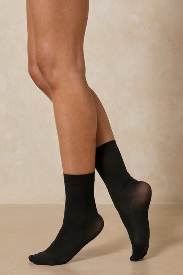 Black Knee High Sheer Socks