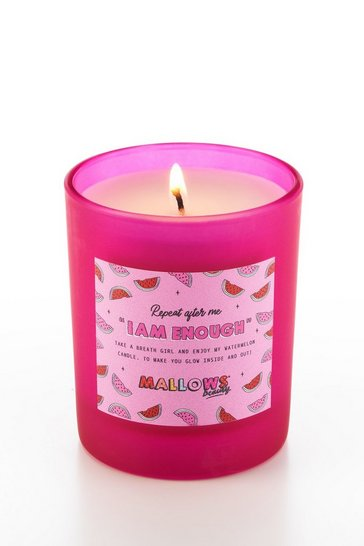 Pink Mallows I Am Enough Watermelon Candle