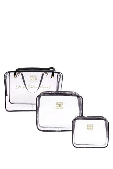 Clear Set Of 3 Essential Travel Bags