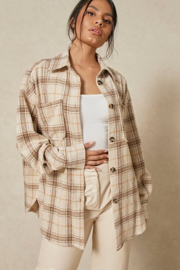 Stone Brushed Checked Shirt