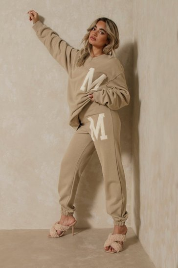 Camel 'M' Sweatshirt And Jogger Set