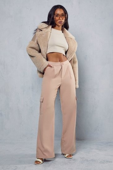 Blush Lux Twill Utility Pocket Trouser