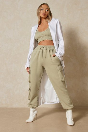 Sage Combat Crop and Jogger Co-ord Set
