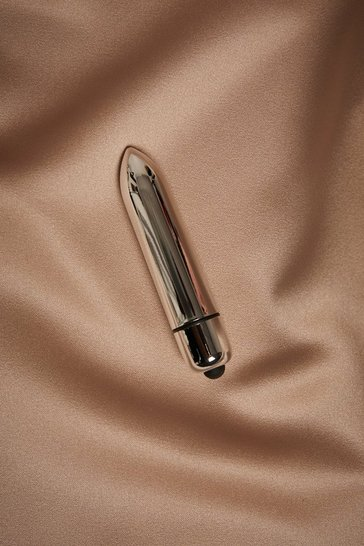 Silver Chrome Metallic Bullet Vibrator